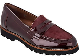 Earth Earthies Leather & Haircalf Loafers - Braga