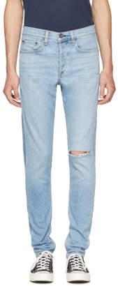 Rag & Bone Blue Standard Issue Fit 1 Extra Slim Jeans