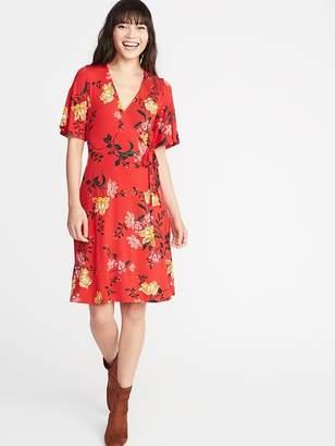 Old Navy Tie-Belt Faux-Wrap Jersey Dress for Women