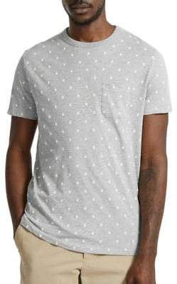 French Connection Dot Slim Cotton Tee