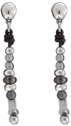 Uno de 50 Ball After Ball Single Strand Bead Leather Earrings