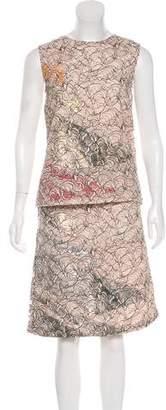 Christian Dior Lace Sleeveless Skirt Set