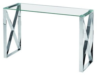 clear Best Quality Furniture Glass Sofa Table with Stainless Steel Legs