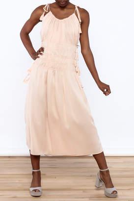 Endless Rose Blush Sleeveless Midi Dress