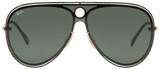 Ray-Ban Black and Gold Pilot Aviator Sunglasses