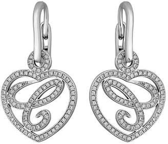 Chopard 18k Chopardissimo Dangling Heart Earrings Zao5tW1