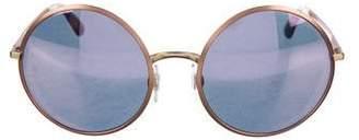 Dolce & Gabbana Mirrored Round Sunglasses