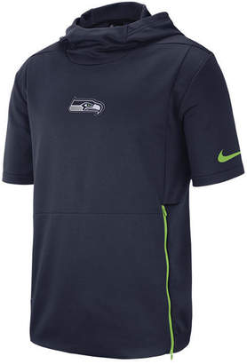 Nike Men Seattle Seahawks Therma Top Short Sleeve Jacket