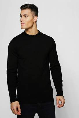boohoo Long Sleeve Turtle Neck Knitted Jumper