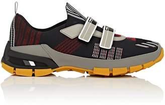 Prada Men's Double-Strap Tech-Knit Sneakers