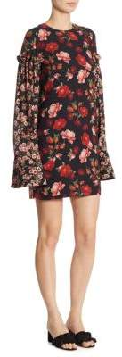 Mother of Pearl Francis Floral Silk Dress