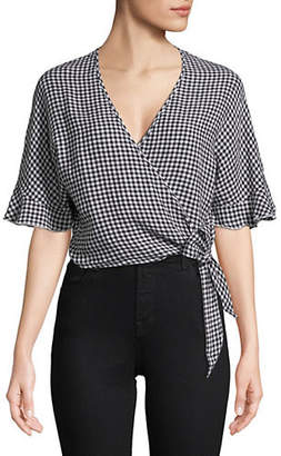 Athena PHILANTHROPY Mini Gingham Wrap Top