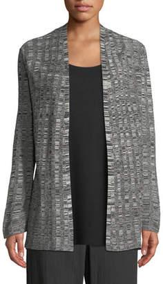 Eileen Fisher Fine Silk/Linen Bell-Sleeve Cardigan