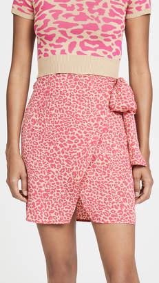 J.o.a. Pink Leopard Skirt