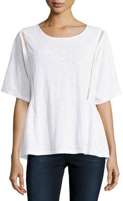 Zero Degrees Celsius Crochet Detail Tee, White $65 thestylecure.com
