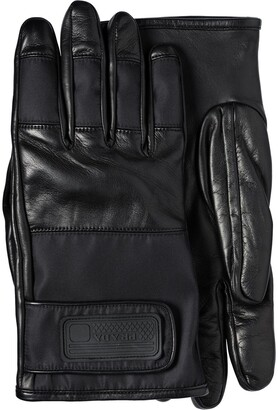 Prada Nylon and Leather Gloves