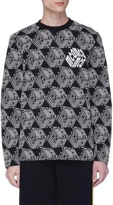 McQ Cube logo print long sleeve T-shirt