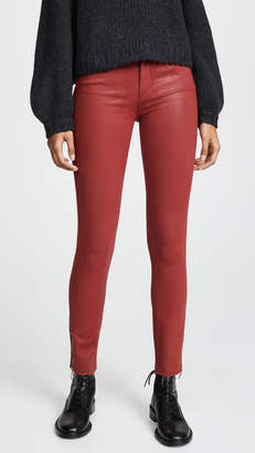 Paige Coated Hoxton Ankle Zip Jeans