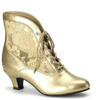Pleaser USA Funtasma by Women's DAME-05 Victorian Ankle Boot