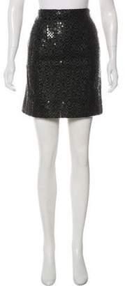 Chanel Sequin Mini Skirt Black Sequin Mini Skirt