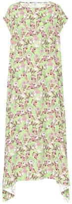 Vetements Floral-printed crepe maxi dress