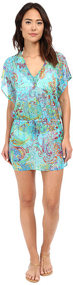 Lauren Ralph LaurenLAUREN Ralph Lauren Maharaja Paisley Poolside Tunic Cover-Up