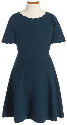 Milly Minis Knit Fit & Flare Dress (Toddler Girls, Little Girls & Big Girls) $155 thestylecure.com