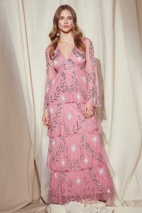 nastygal Nasty Gal Studio Billie Embellished Maxi Dress