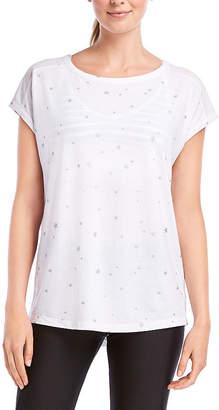 Jockey Fall 2018 Short Sleeve Round Neck Star T-Shirt-Womens