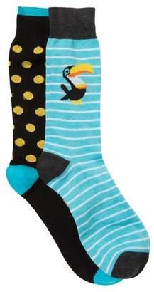 Lorenzo Uomo Assorted Crew Socks - Pack of 2