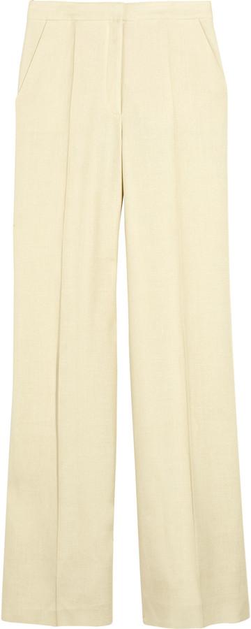 Stella McCartney Leno woven wide-leg pants