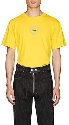 GmbH Men's Logo Cotton Shrunken T-Shirt - Yellow