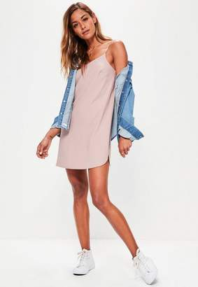 Missguided Petite Pink Crepe Shift Dress