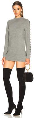 Chloé Superfine Knit Embellished Sleeve Sweater Dress