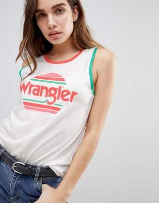 Wrangler Sunset Stripe Logo Singlet
