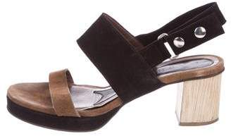 Marni Suede Ankle-Strap Sandals