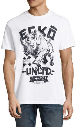 Ecko Unlimited Unltd Mens Crew Neck Short Sleeve Logo Graphic T-Shirt