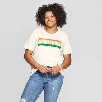 992eec7f3b0d Mad Engine Women's Plus Size Short Sleeve Good Vibes Graphic T-Shirt -  Mighty Fine