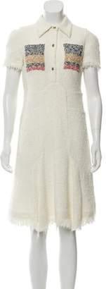 Sonia Rykiel Short Sleeve Tweed Dress