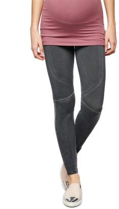David Lerner Secret Fit Belly Seamed Maternity Leggings