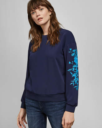 Ted Baker LELLSA Bluebell embroidered sweater