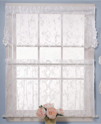 """Petite Fleur Saturday Knight CLOSEOUT! Saturday Knight Pair of 28"""" x 24"""" Cafe Curtains"""