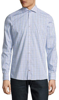 Pure Slim-Fit Cotton Checkered Sport Shirt