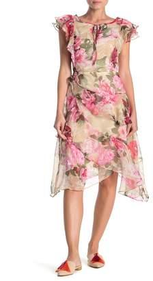 Walter Baker Granger Floral Ruffled Chiffon Dress