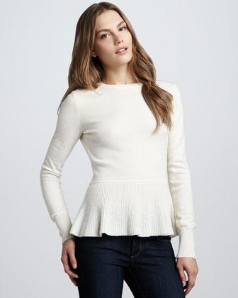 Autumn Cashmere Cashmere Peplum Sweater