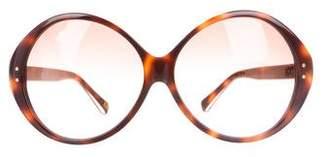 Diane von Furstenberg Oversize Gradient Sunglasses