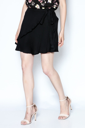 Cotton Candy LA Black Flirty Wrap Skirt $49 thestylecure.com
