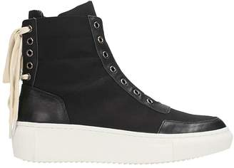 D.Gnak D by D Black Leather Sneakers
