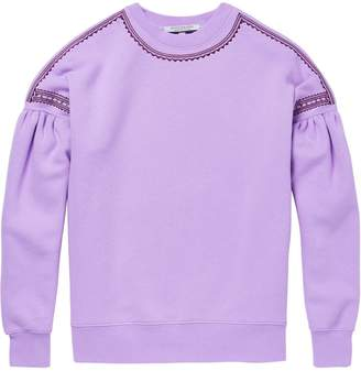 Scotch & Soda Wide Sleeve Embroidered Sweatshirt