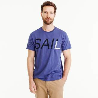 J.Crew Tall Mercantile Broken-in T-shirt in sail graphic